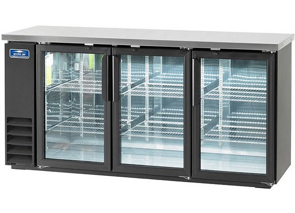 "Arctic Air ABB72G 73"" Glass Door Back Bar Refrigerator"