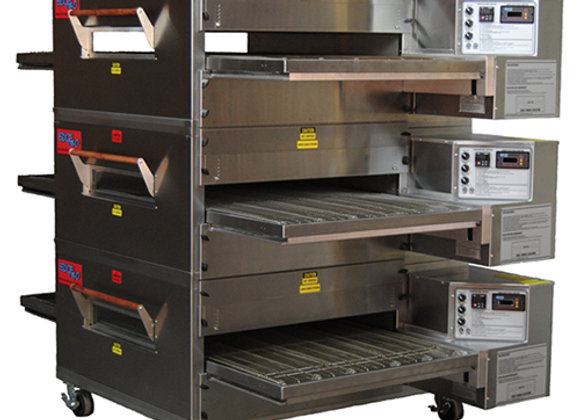 EDGE 3240-3-G2 Series Triple-Stack Gas Conveyor Pizza Oven