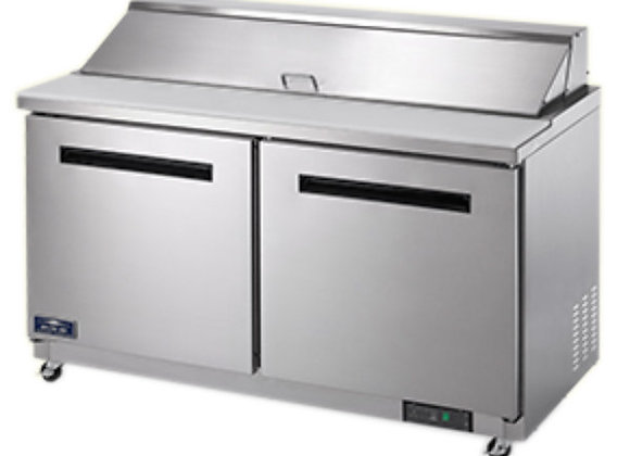 "Arctic Air AST60R 61 1/4"" 2 Door Refrigerated Sandwich Prep Table"