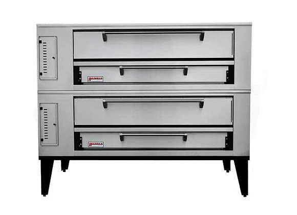 Marsal SD-1060STACKED Commercial Gas Double Pizza Deck Oven