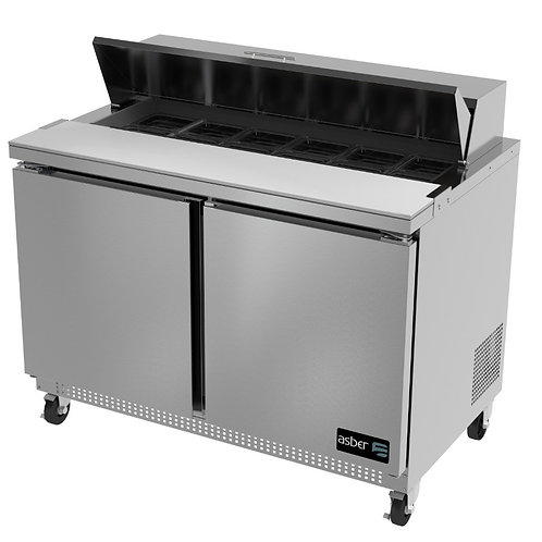 "ASBER APTS-60-16 60"" COMMERCIAL REFRIGERATED SANDWICH PREP TABLE COOLER"