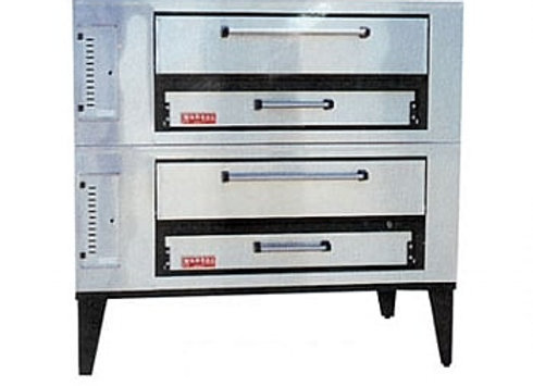 Marsal SD-448STACKED Commercial Gas Double Pizza Deck Oven