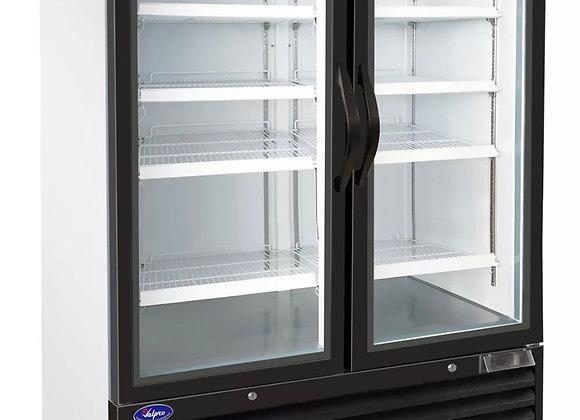 valpro two swing glass door 48 cu.ft. freezer merchandiser