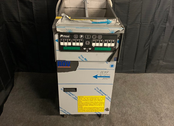 PITCO SFSSHLV14T 32LB GAS FRYER SPLIT POT WITH FILTER DIGITAL CONTROL DEMO