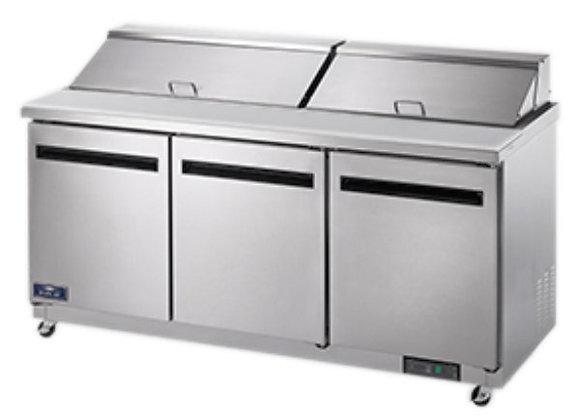 "Arctic Air AST72R 72"" 3 Door Refrigerated Sandwich Prep Table"
