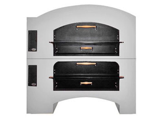 Marsal MB-60STACKED Commercial Gas Double Pizza Deck Oven