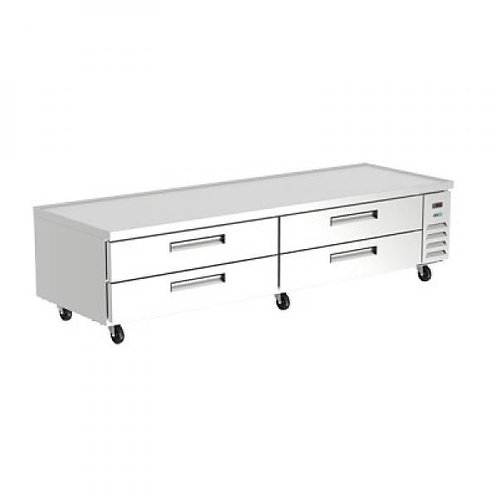 "ASBER ACBR-96 96"" REFRIGERATED CHEF BASE"