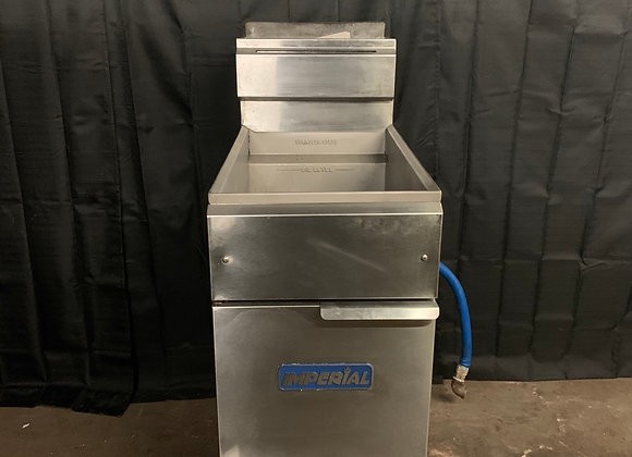 IMPERIAL IFS-40 40LB COMMERCIAL GAS FRYER USED