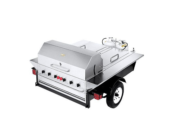 "Crown Verity TG-1 69"" Tailgate Grill with Beverage Compartments"