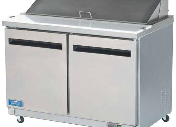 "Arctic Air AST48R 48"" 2 Door Refrigerated Sandwich Prep Table"
