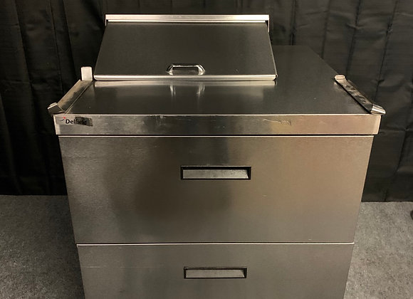 """DELFIELD UCD4432N-6-DD1 36"""" SANDWICH PREP TABLE WITH 2 DRAWERS USED"""