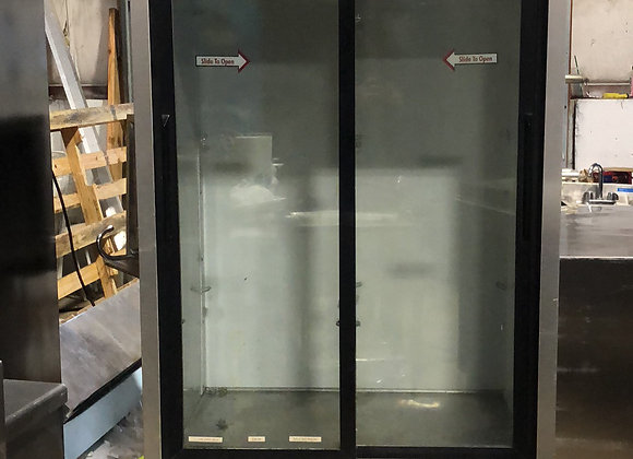 TRUE TSD-33G 2 DOOR GLASS REFRIGERATOR MERCHANDISER USED