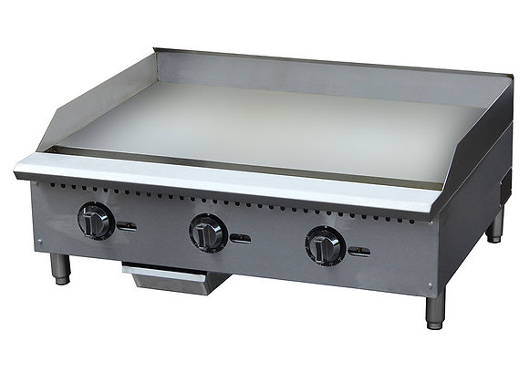"""36"""" THERMOSTATIC CONTROL GAS GRIDDLE COMMERCIAL"""