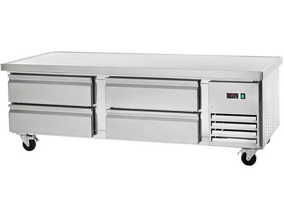 """Arctic Air ARCB72 74"""" Four Drawer Refrigerated Chef Base"""
