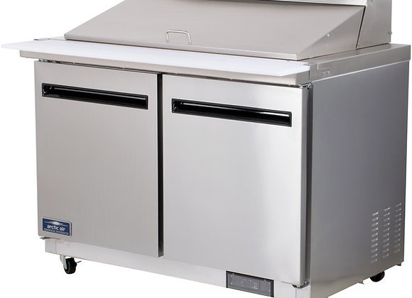 "Arctic Air AMT48R 48"" 2 Door Mega Top Refrigerated Sandwich Prep Table"