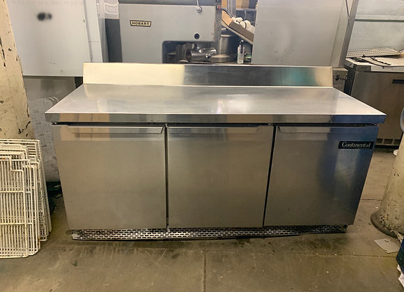 """CONTINENTAL SW-72 USED 72"""" REFRIGERATED WORKTOP COOLER PREP TABLE"""