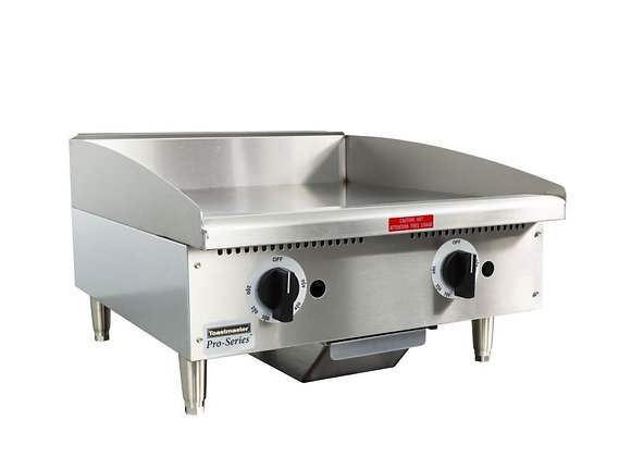 "Toastmaster TMGT24 24"" Gas Griddle - Thermostatic, 3/4"" Steel Plate"