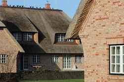 Rückseite der Häuser