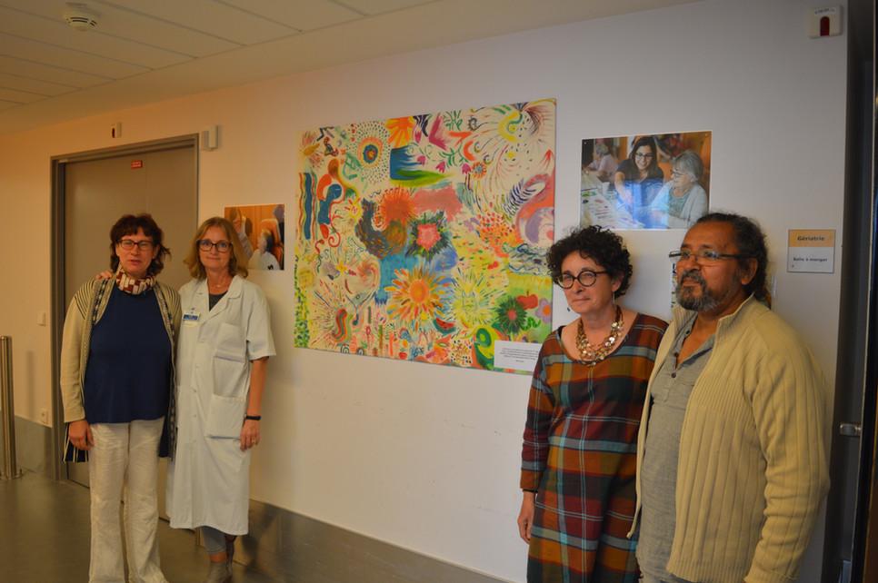 De nouvelles toiles des patients décorent l'hôpital Rothschild