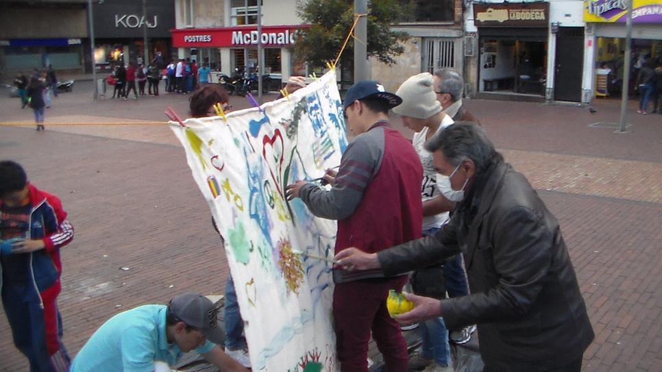 Bogota pintura collectiva !