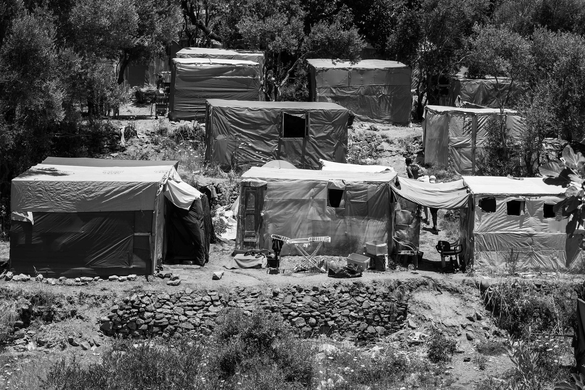 Tents in the camp