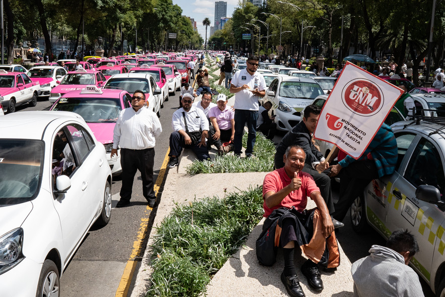 Taxi Protests, Mexico City