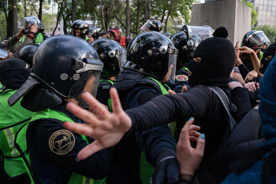 Police and activists come head to head