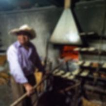 A baker in Oaxaca, Mexico