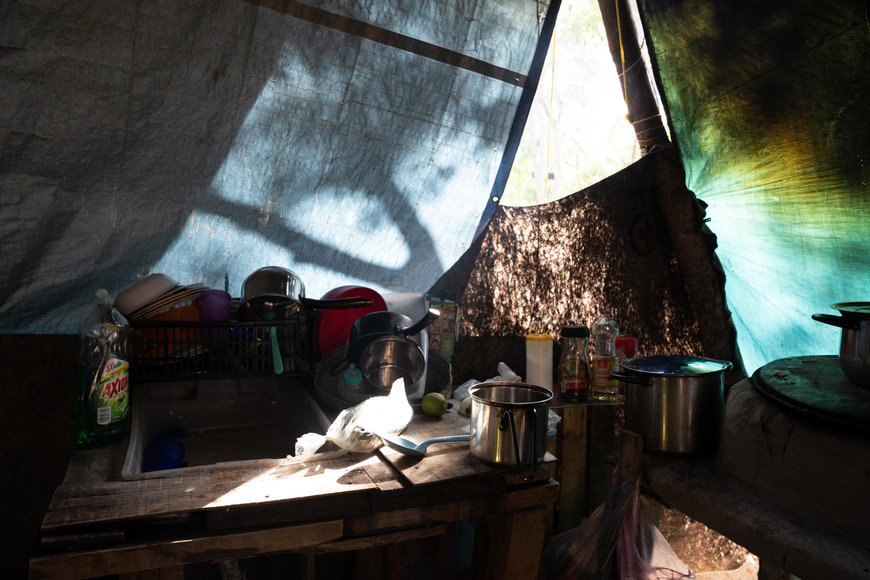 A camp kitchen
