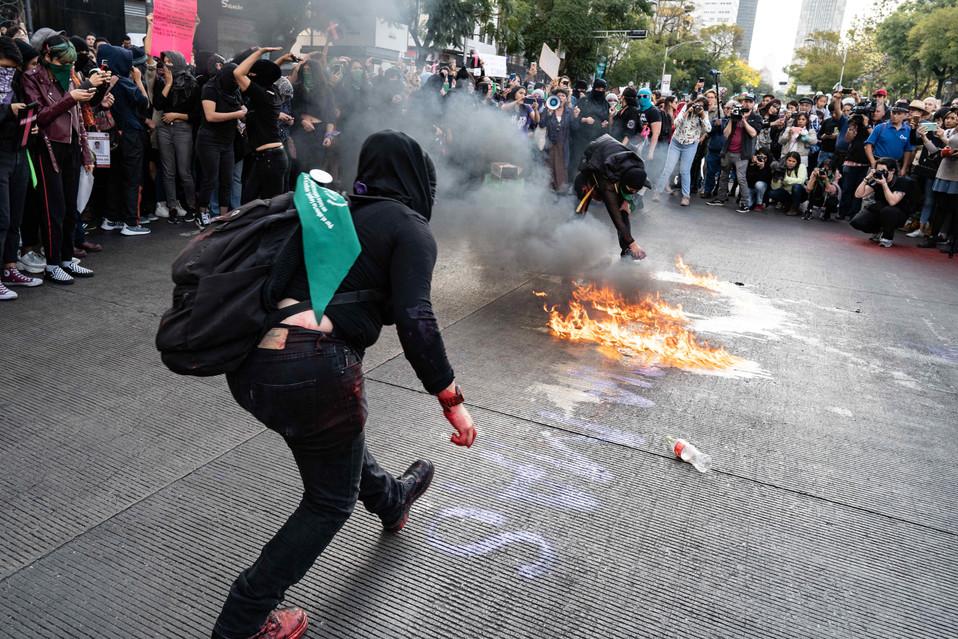 Firey demonstration