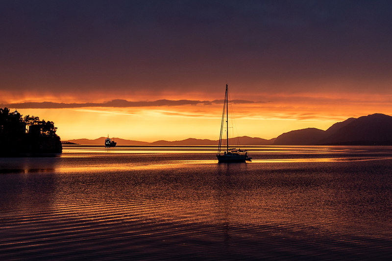 Sunset on Evia, Greece