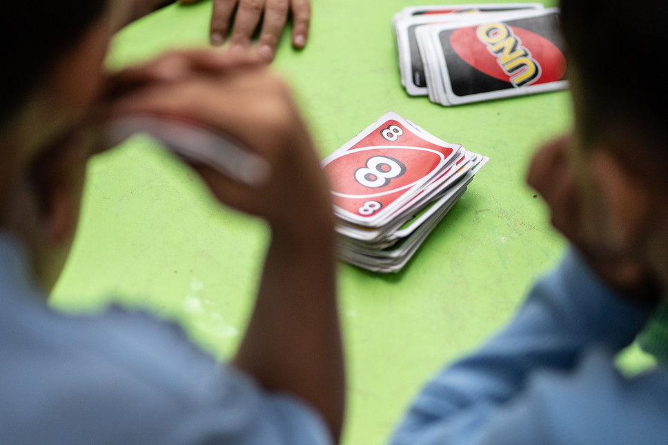 A quick game of uno