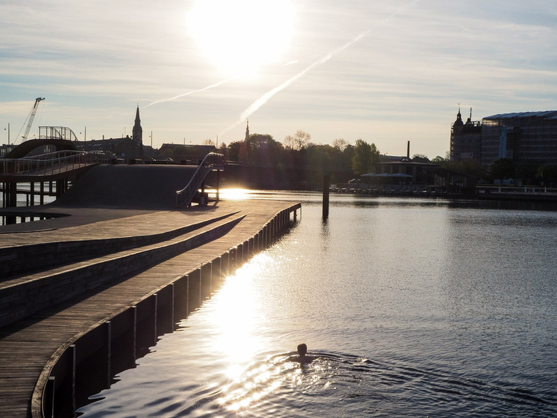 A morning swim
