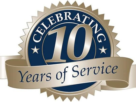 We're celebrating 10 years of successful business this February.