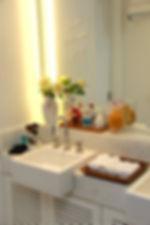 Organização de banheiros