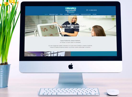 New web and brand update for Kieferorthopaedie im Glashaus, from Riegelsberg, Germany