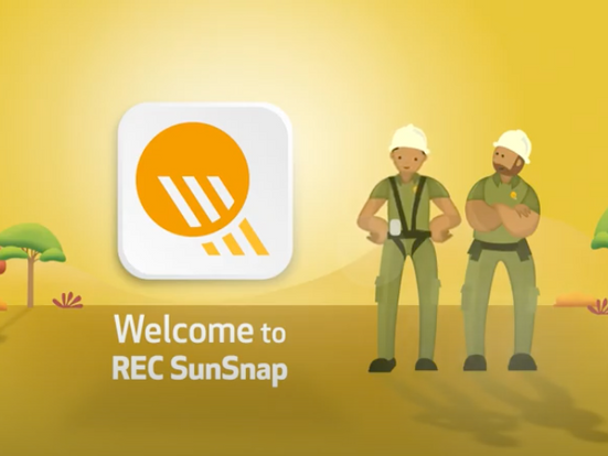 Animated video in motion graphics: Rick and Roy present REC SunSnap App