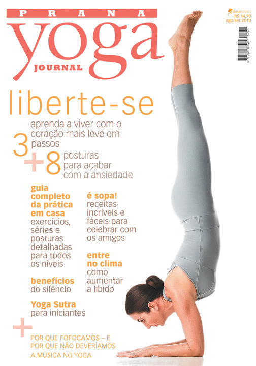 Capa Yoga Journal - Agosto 2010