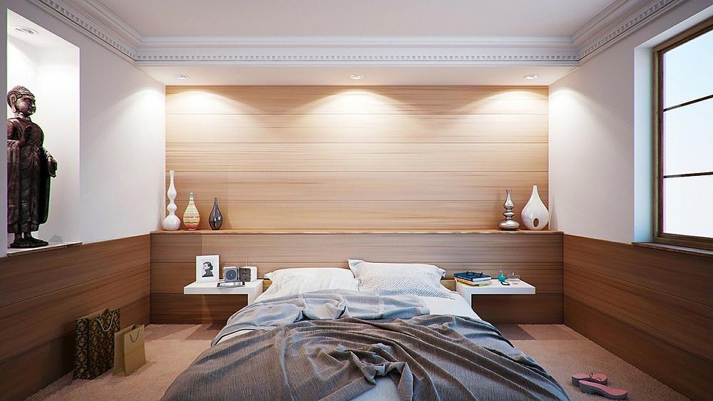 Relaxing bedroom for sleep