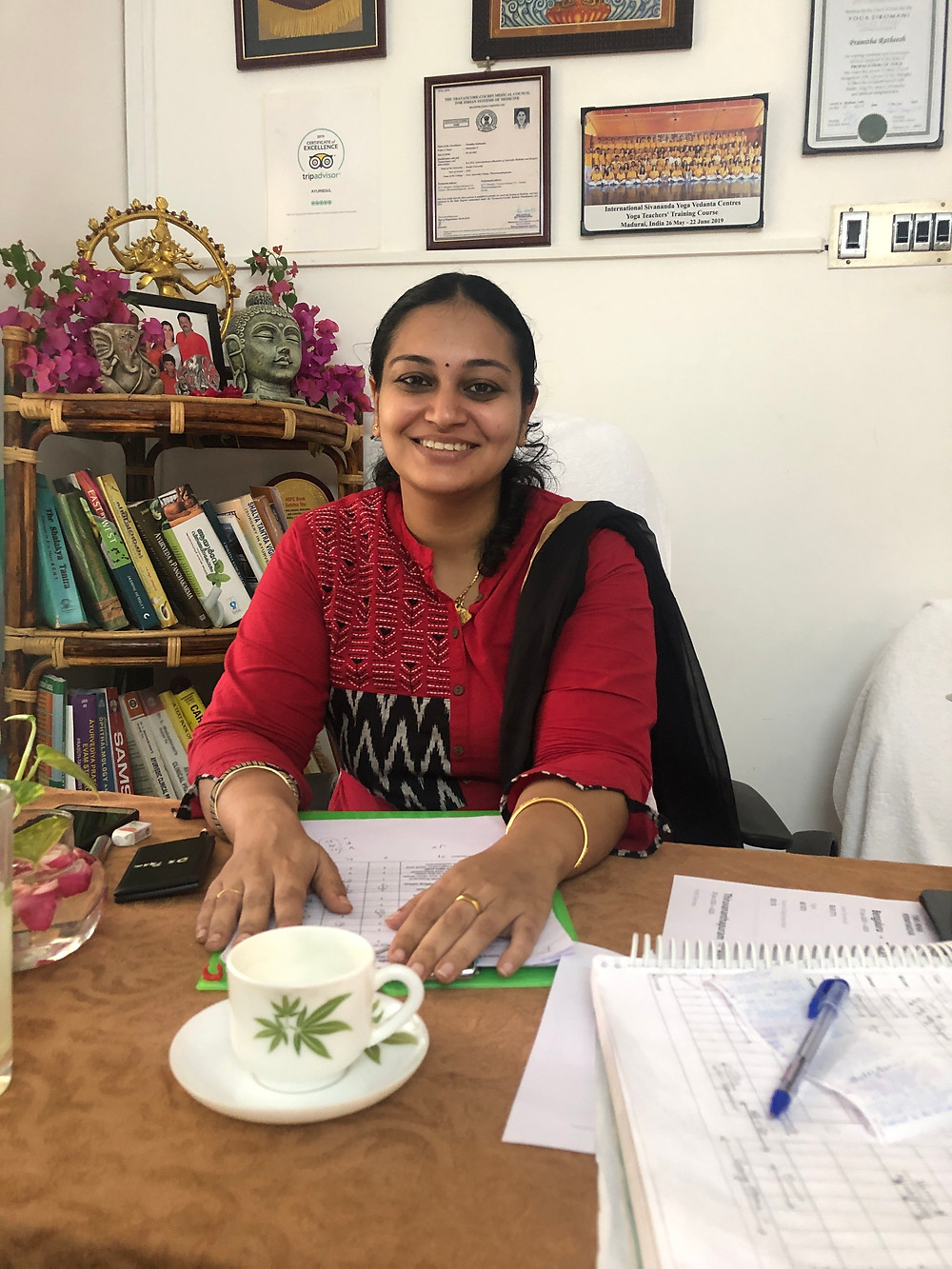 Dr Gowi from Ayursoul Ayurvedic retreat in Kerala