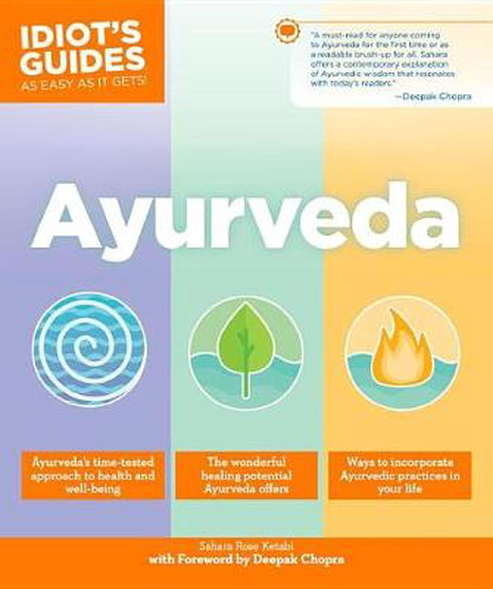 Idiots guide to Ayurveda by Sahara Rose book cover