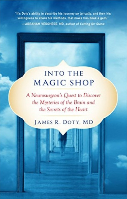Into the magic shop by james doty book blue book cover