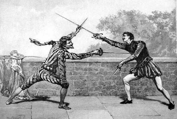 Mačevalački duel sa rapirom i bodežom
