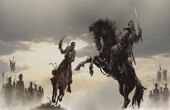 Aleksandar Lekso Saičić, ilustracija duela sa samurajem