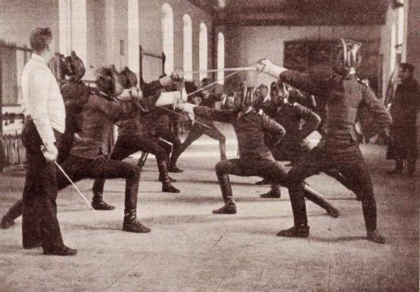 Čas mačevanja u sali Vojne akademije