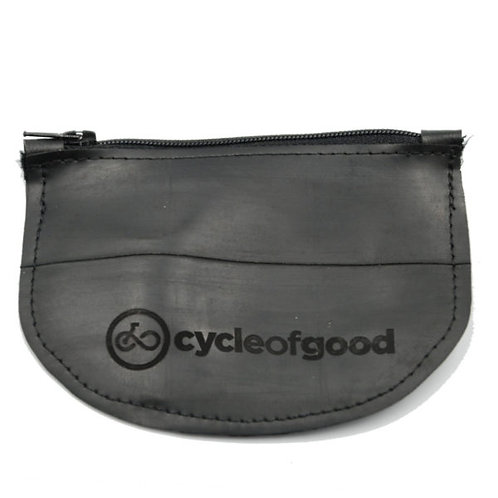 Cycle of Good - Recycled inner tube coin purse
