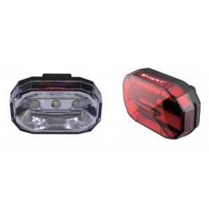 Smart Diamond - 3 White-LED Front Light / 3-LED Rear Twinset Lights