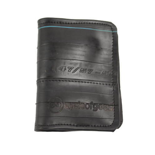 Cycle of Good - Recycled inner tube slimline wallet