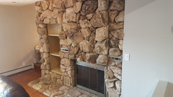 Front Side of Fireplace BEFORE
