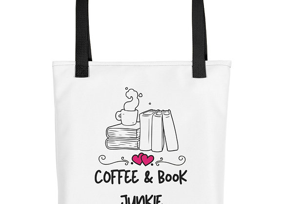 Coffee and Book Junkie Tote